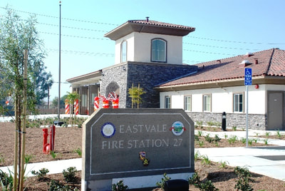 Eastvale Fire Station sign