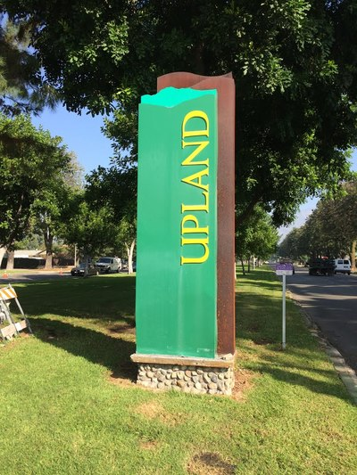 City of Upland sign